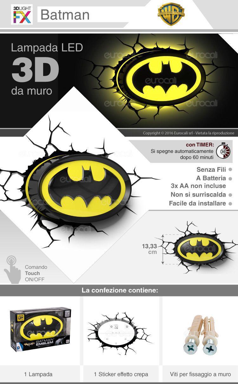 3d light FX lampada LED Batman