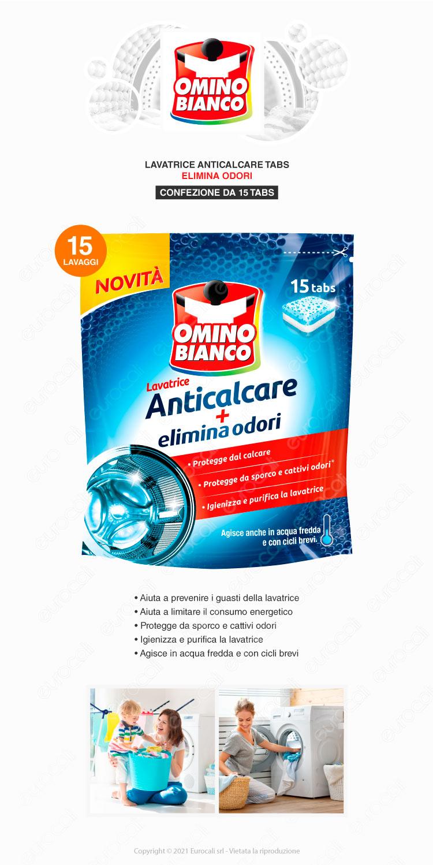 omino bianco Anticalcare lavatrice capsule