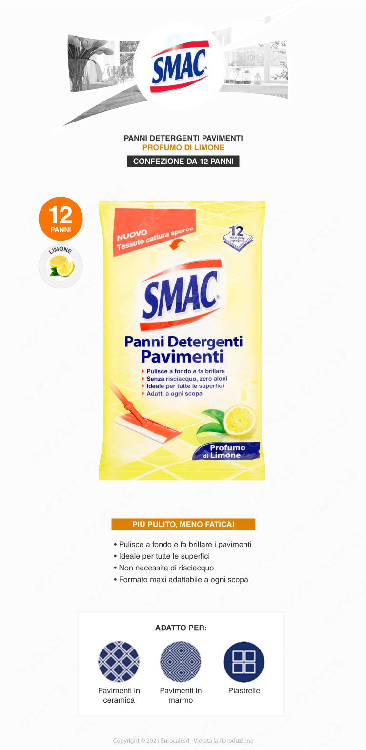 smac panni detergenti pavimenti