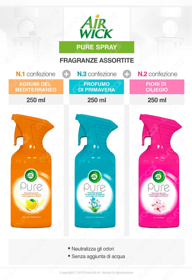 Air Wick Pure Spray Fragranze Assortite