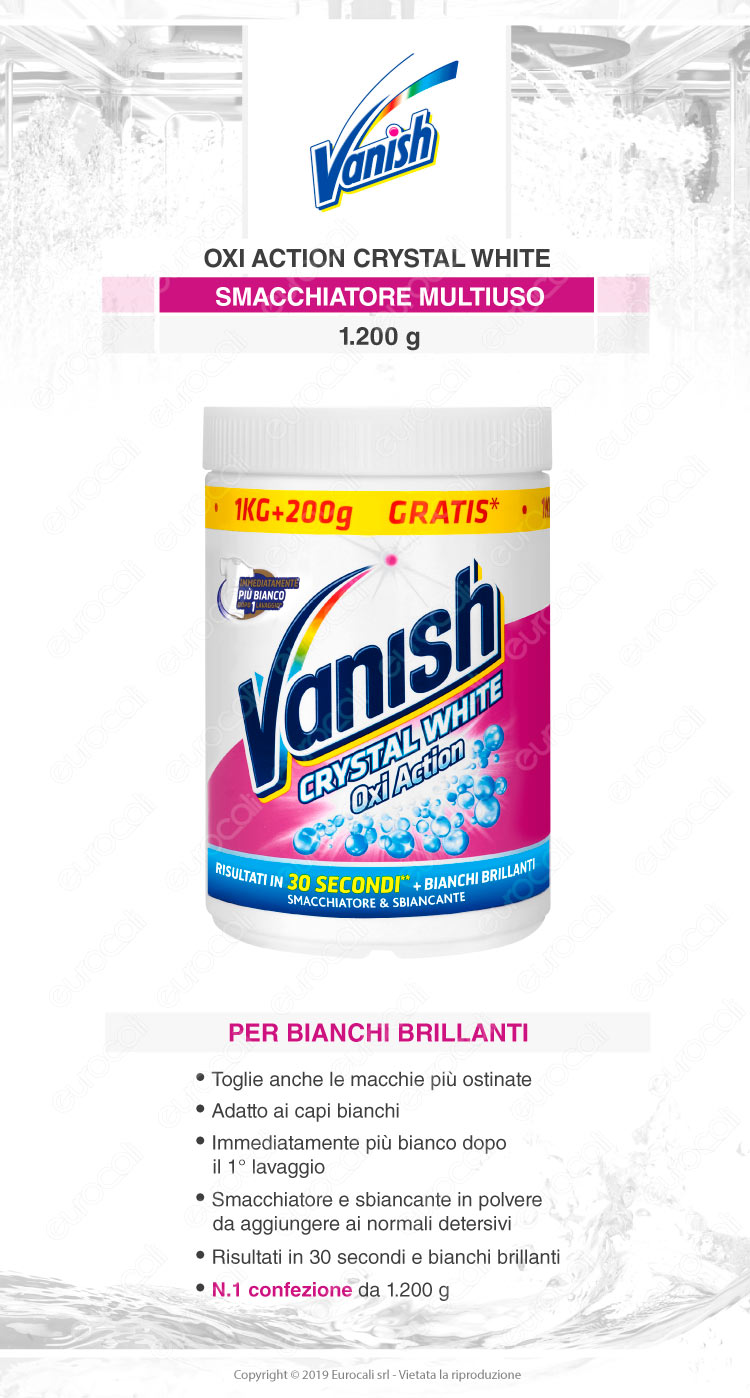 Vanish oxi action crystal white 1200gr
