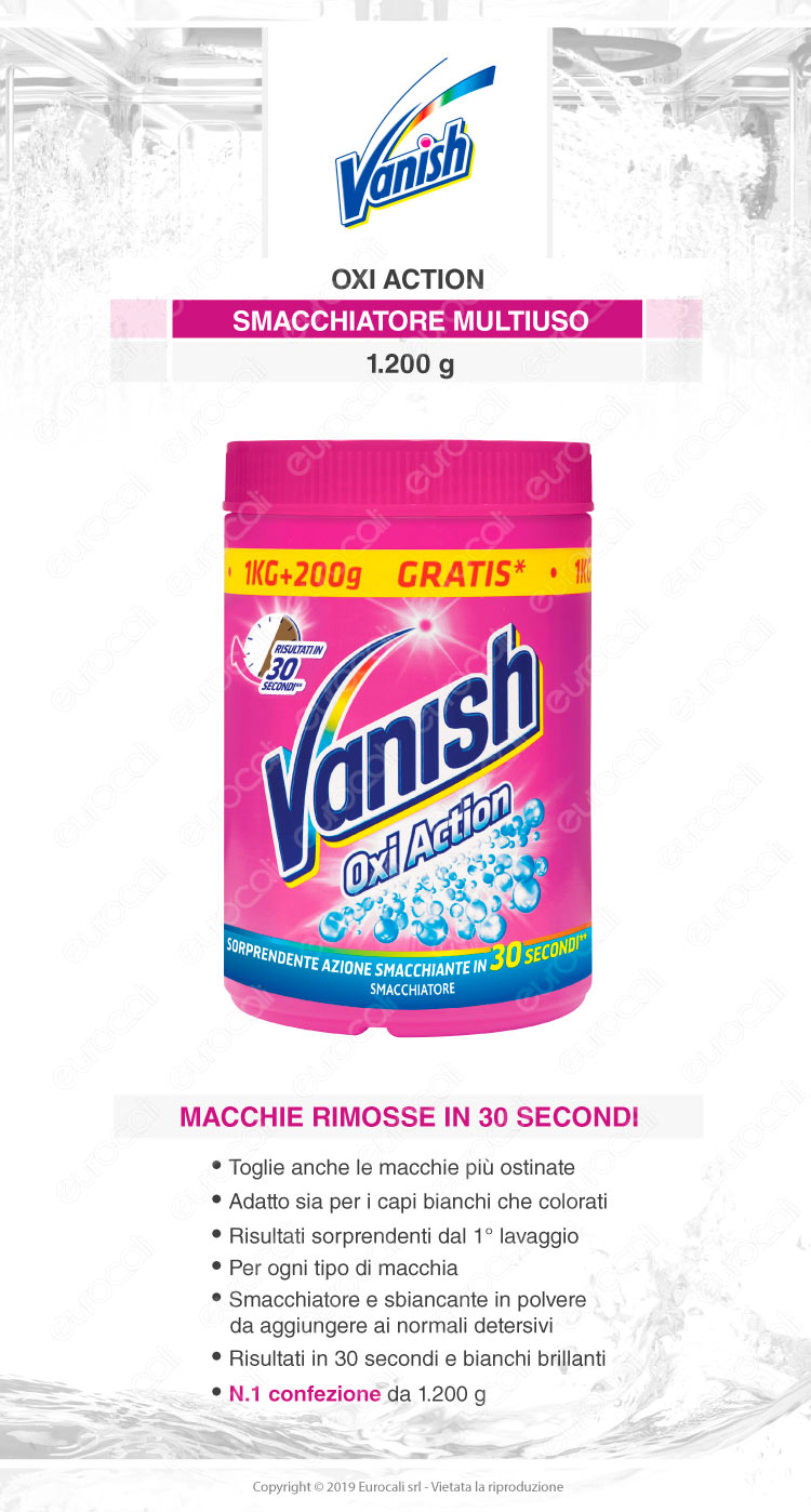 Vanish oxi action polvere rosa 1200gr