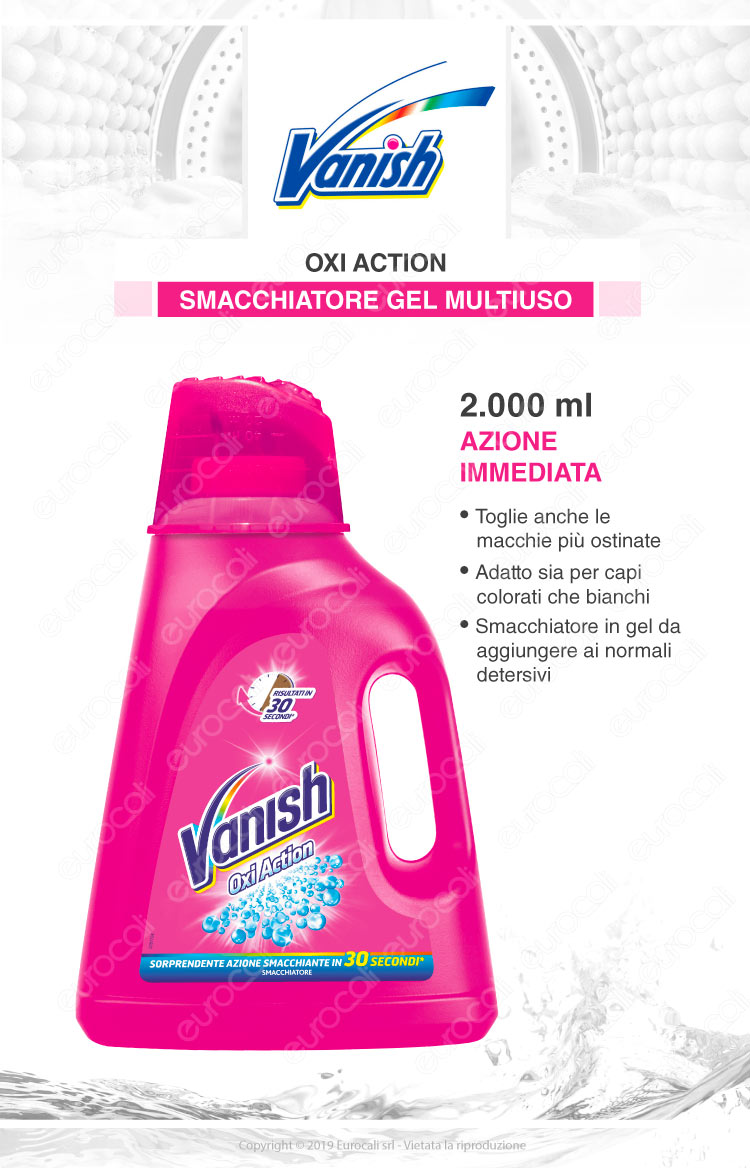 Vanish oxi action rosa gel 2lt