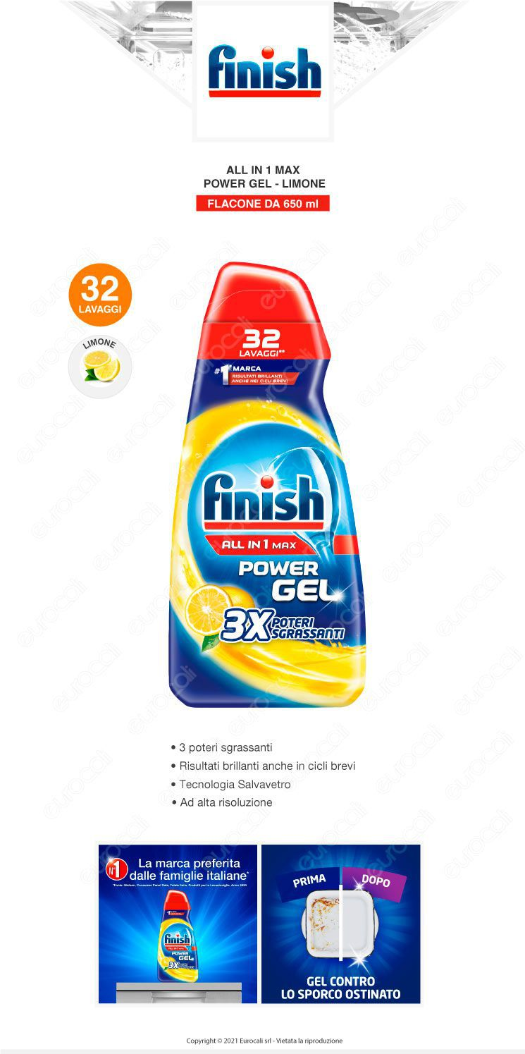 Finish Tutto in Uno Max Powergel Lemon