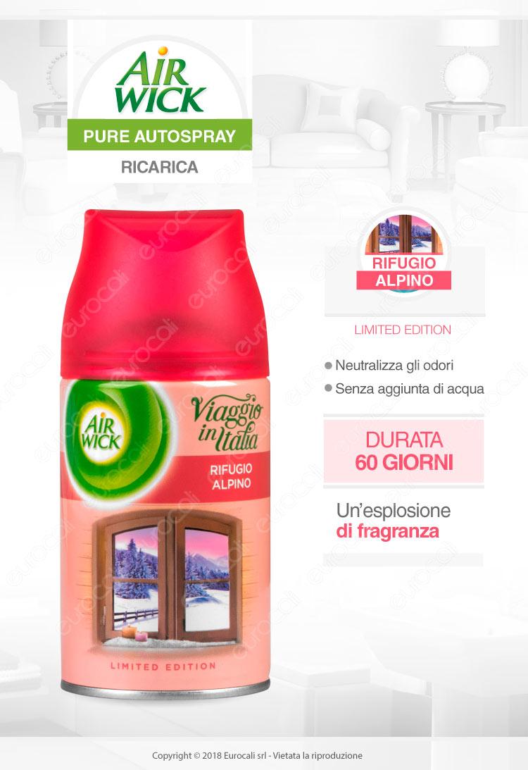 Air Wick Freshmatic Ricarica Spray Rifugio Alpino