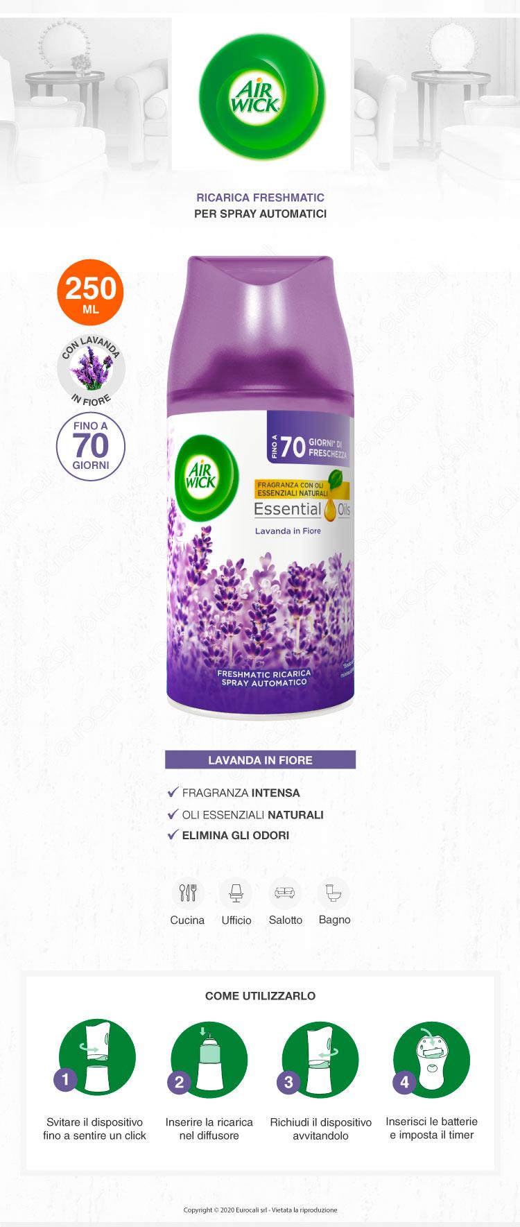 Air Wick Freshmatic Ricarica Spray Profumo Lavanda