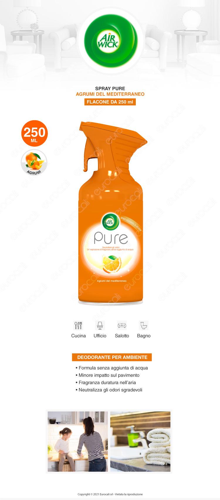 Air Wick Spray Pure Agrumi del Mediterraneo