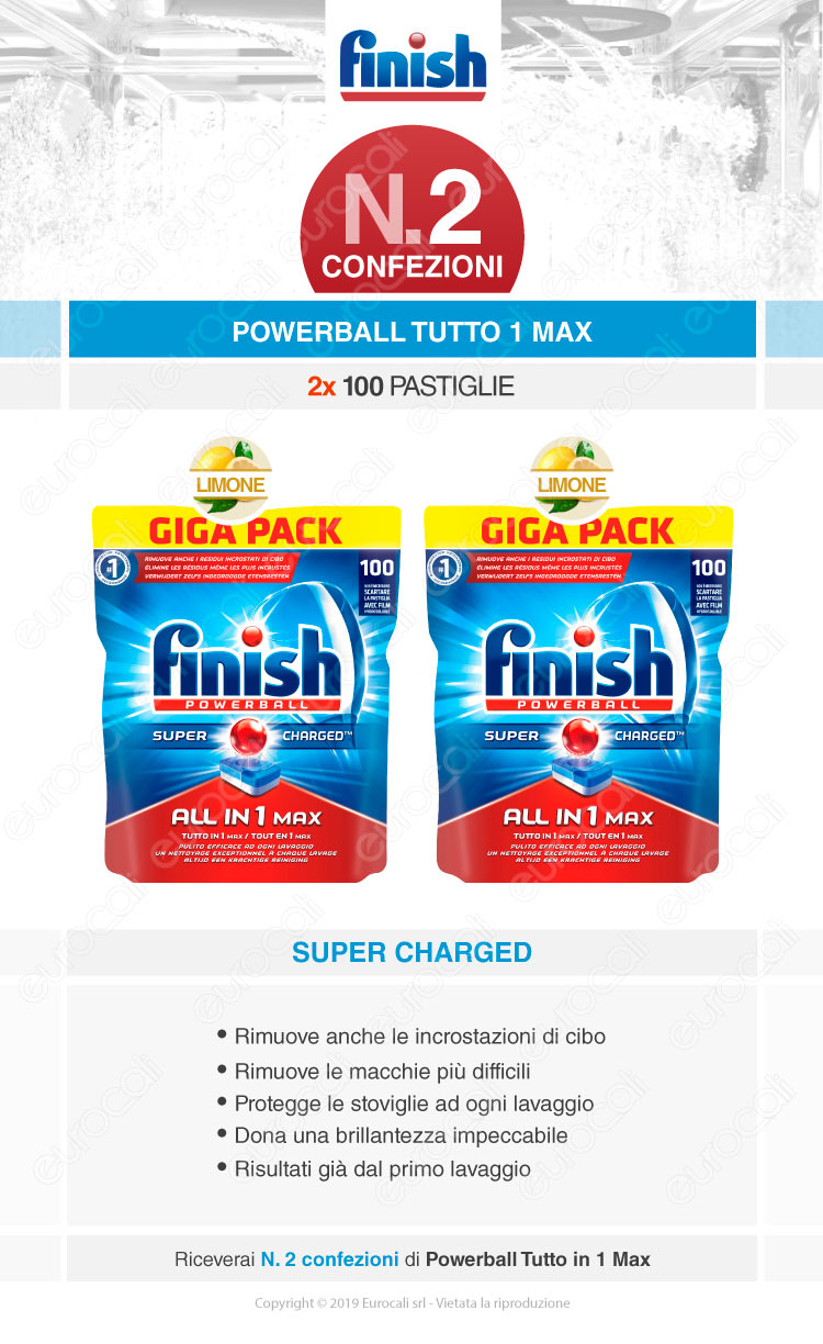 Finish Tutto in Uno Max 200 Lemon