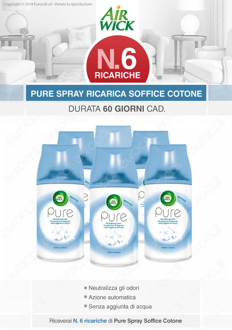 Air Wick Freshmatic Ricarica Spray Soffice Cotone