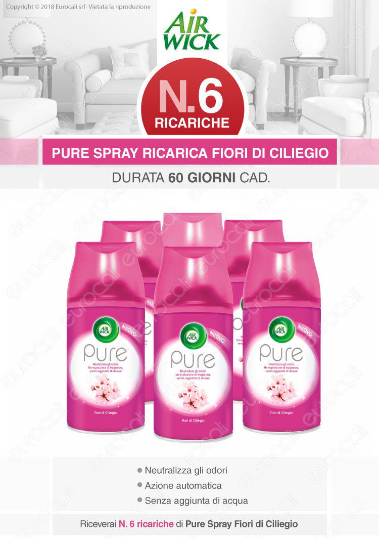 Air Wick Freshmatic Ricarica Spray Fiori di Ciliegio