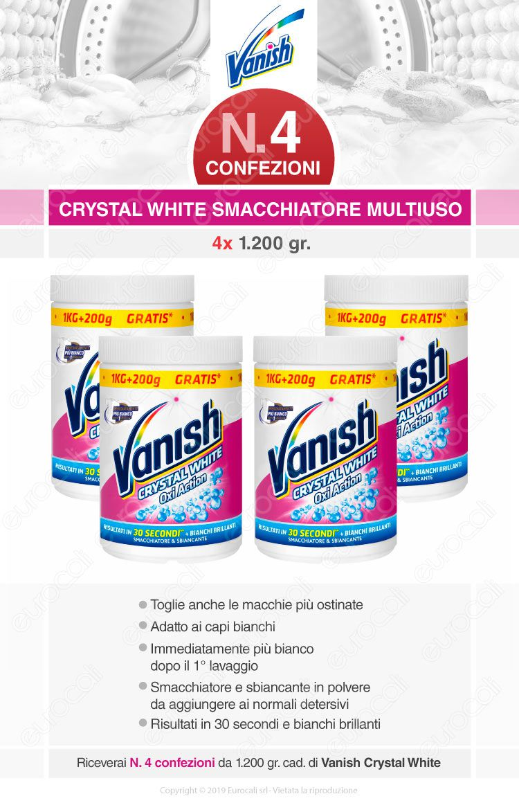 Vanish oxi action crystal white 4x1200gr