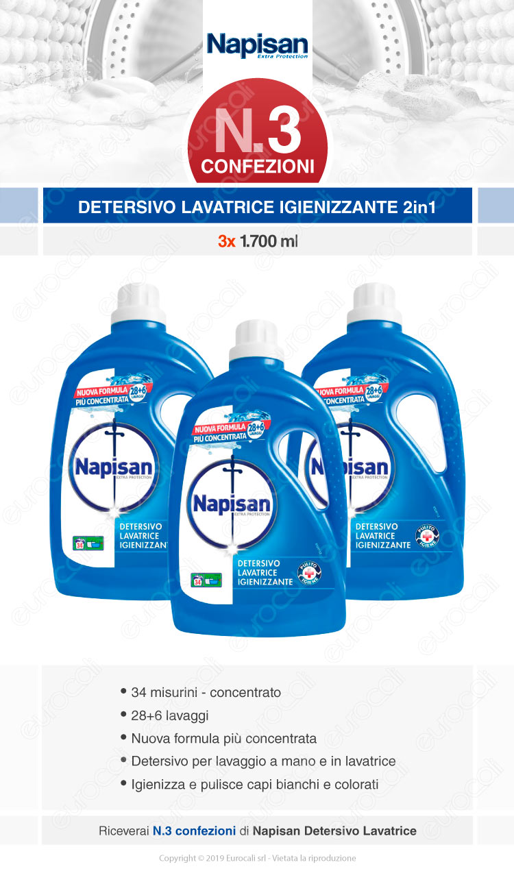 Napisan detersivo lavatrice igienizzante 1700ml