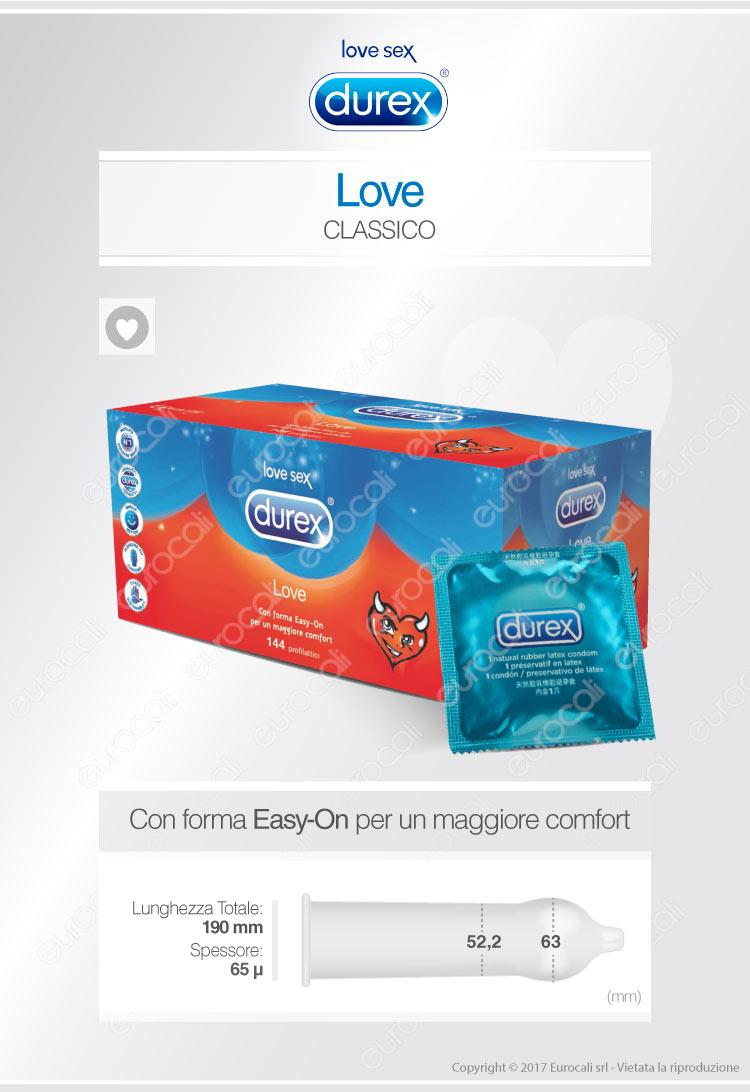 Durex Preservativi Love 144pz