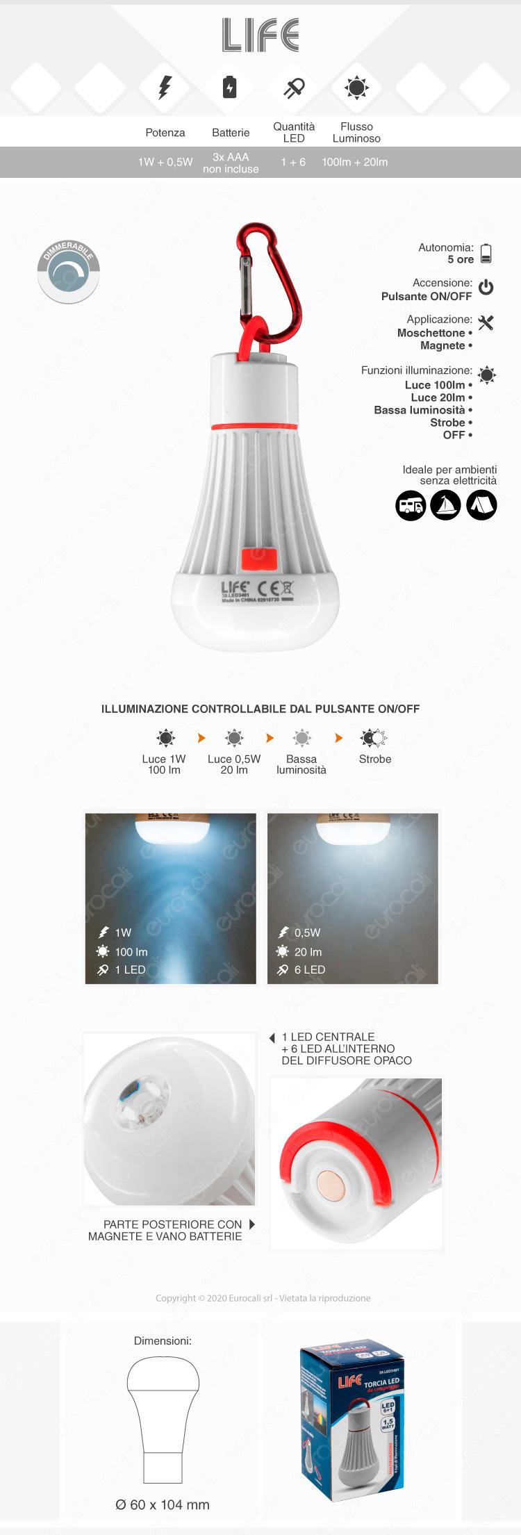 Torcia LED da Campeggio