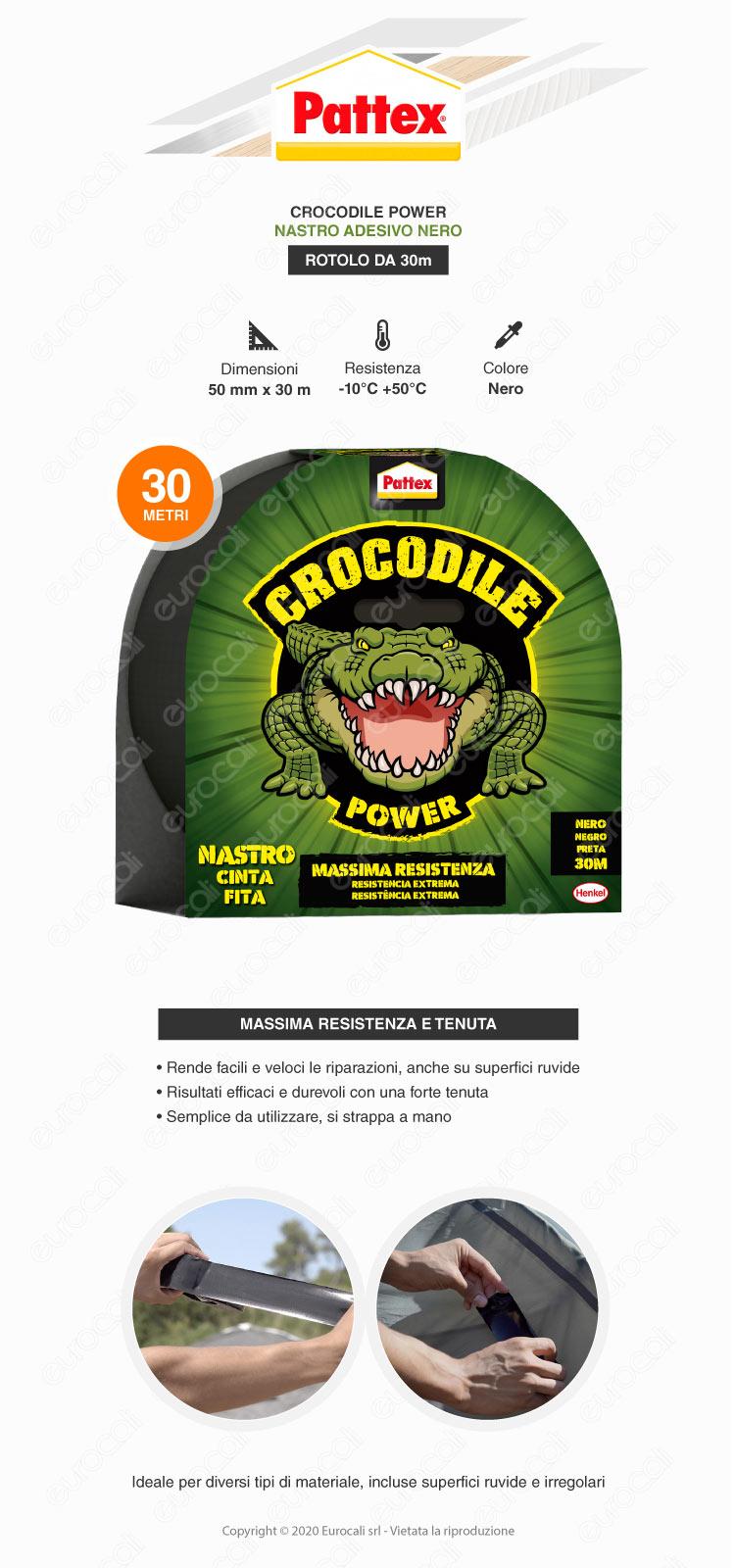 pattex crocodile nastro nero