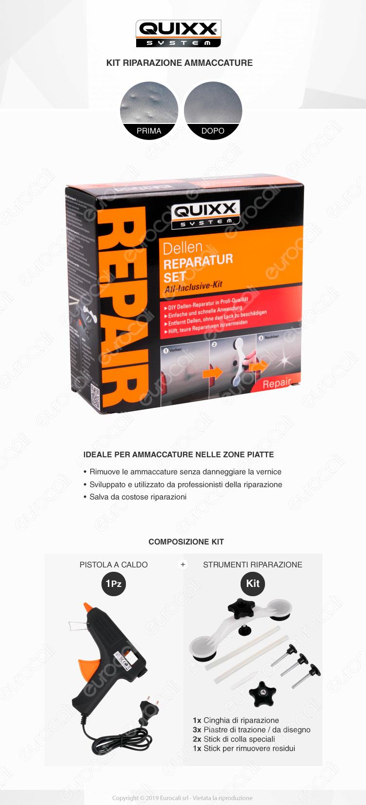 Quixx System Kit Riparazione Ammaccature