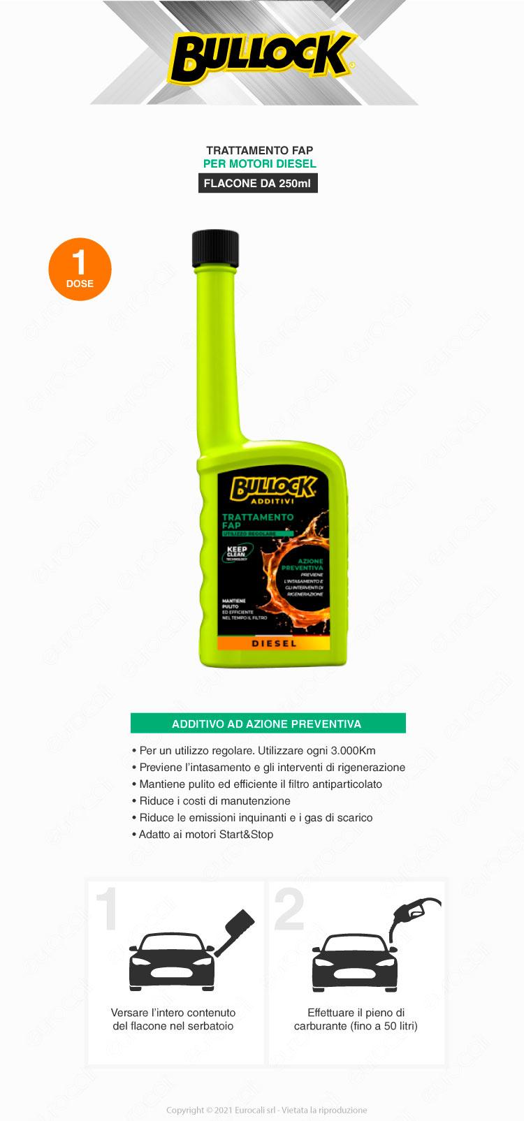 bullock additivi trattamento fap diesel